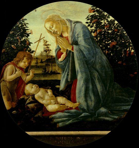 Поклонение младенцу Христу (ок.1482) (95 см) (Пьяченца, Музей Чивико)