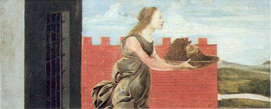 Алтарь Сан Барнаба. Пределла. Саломея с головой Иоанна Крестителя (21 х 41)