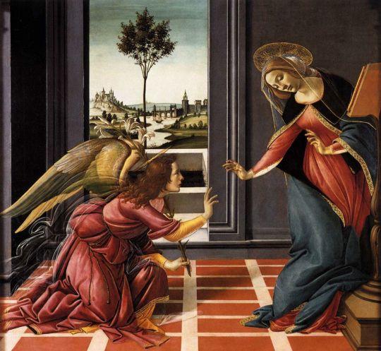 Благовещение Честелло (1489-1490) (150 x 156) (Флоренция, Уффици)