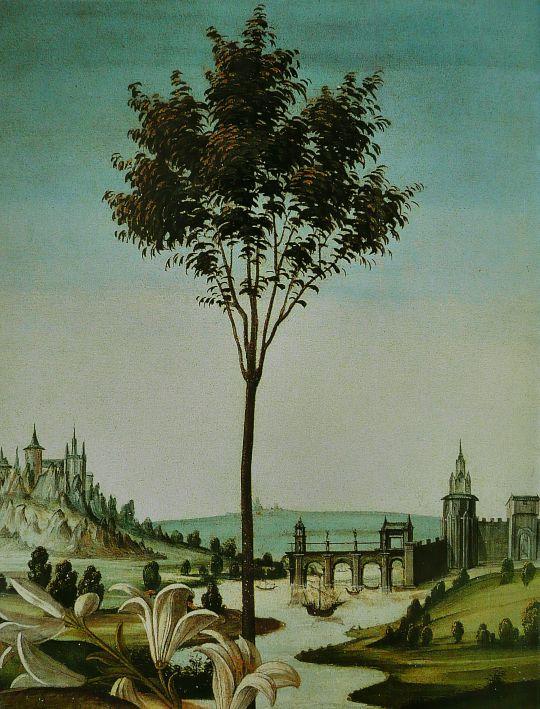 Благовещение Честелло (1489-1490) (150 x 156) (Флоренция, Уффици)_деталь