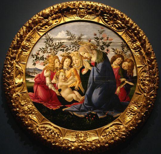 Поклонение Богоматери Младенцу с пятью ангелами