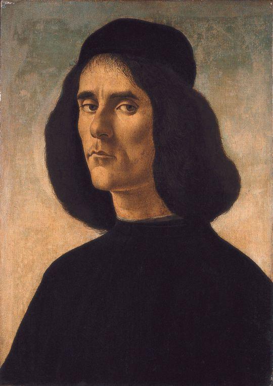 Портрет Michael Tarchaniota Marullus (позже 1490) (49 х 35) (Барселона, Коллекция Guardans Camb?)
