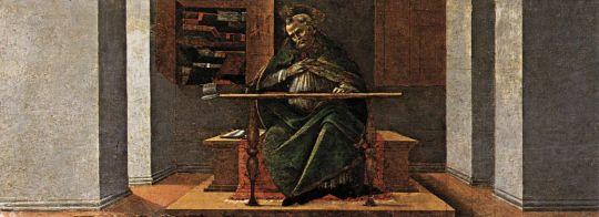 Алтарь 'Сан Марко'. Пределла. Св.Августин в своей келье (21 х 269)