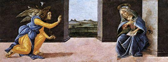 Алтарь 'Сан Марко'. Пределла. Благовещение (21 х 269)
