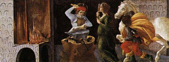Алтарь 'Сан Марко'. Пределла. Чудо св.Элигия (21 х 269)