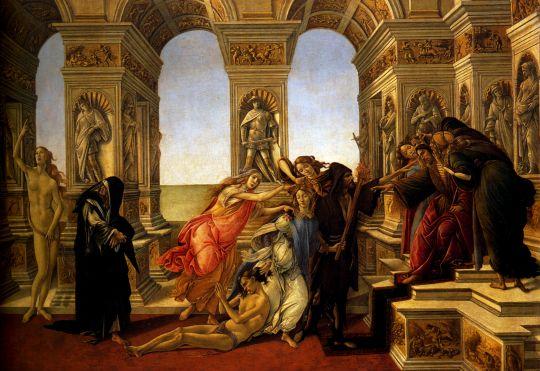 Клевета Апеллеса (1494-1495) (62 х 91) (Флоренция, Уффици)_деталь