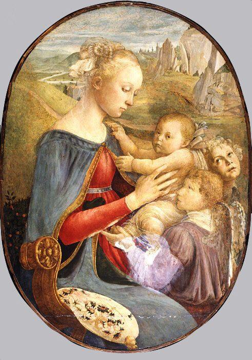 донна с младенем и двумя ангелами (дата не определена (Нью-Йорк. муз.Метрополитен)