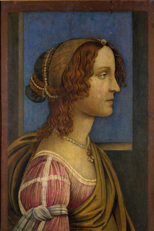 Леди в профиль (ок.1490) (Лондон, Нац.галерея)