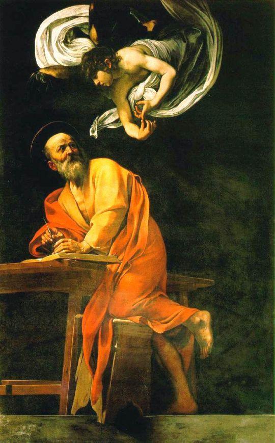 Вдохновение св. Матфея, 1602