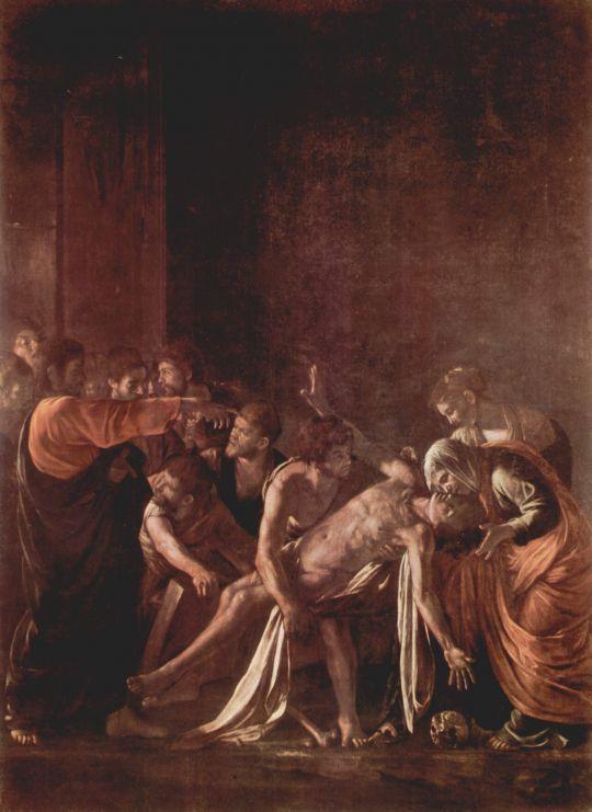 Воскрешение Лазаря, 1609