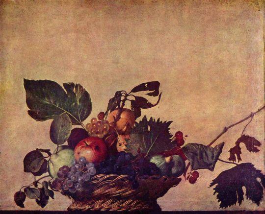 Корзина фруктов, 1596