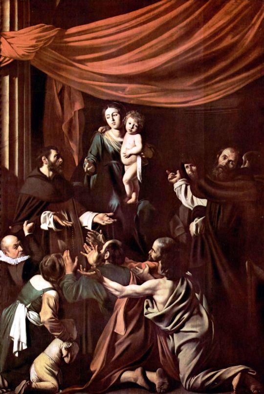 Мадонна с четками, 1606-1607