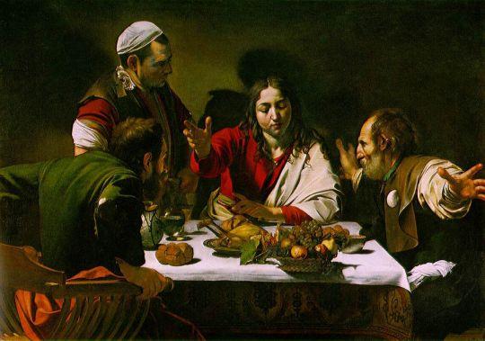 Ужин в Эммаусе, 1601