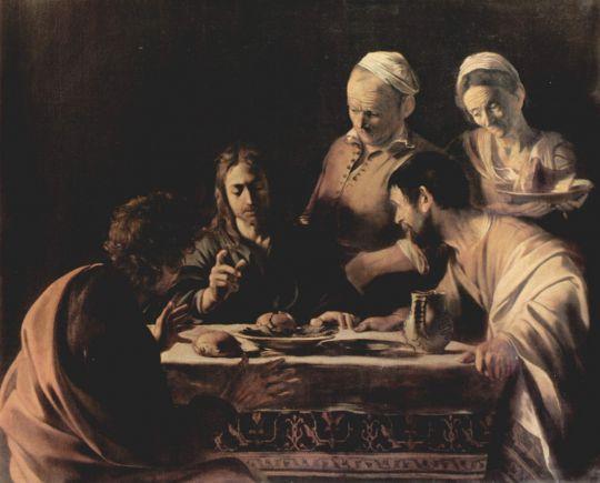 Христос в Эммаусе, 1606