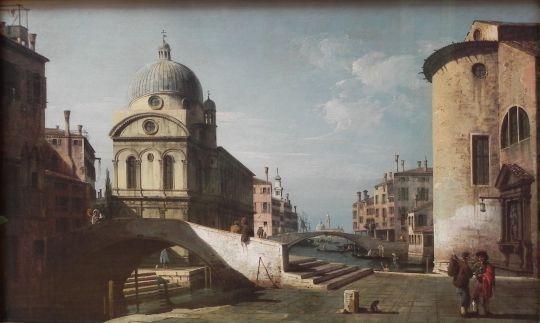 Венецианское каприччио с видом Санта-Марии (1740)