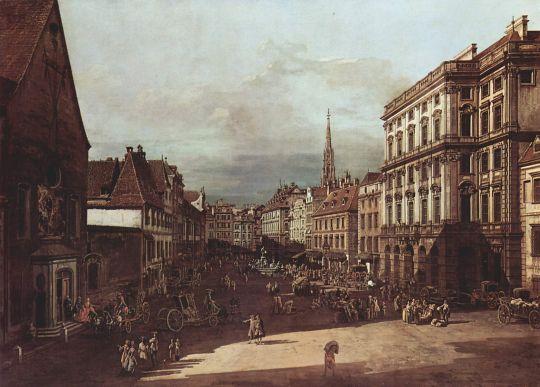 Вид Вены, мучной рынок с юго-восточной стороны по направлению на северо-восток (1760)