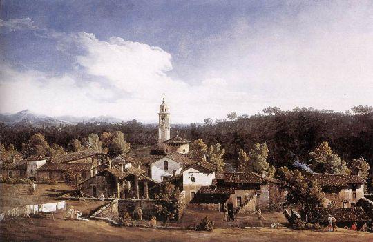 Вид деревни Гаццада с южной стороны (1744)