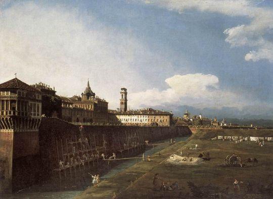 Вид на королевский дворец в Турине с западной стороны (1745)