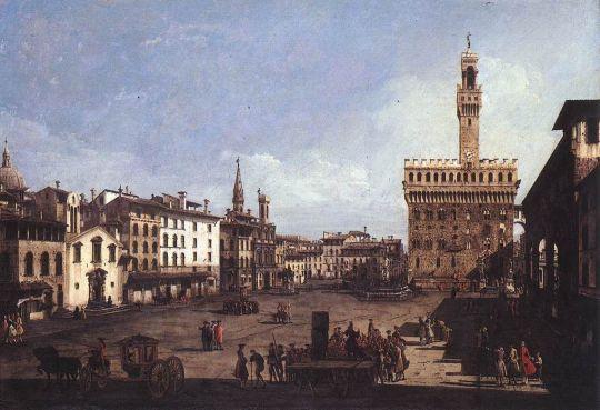 Главная площадь во Флоренции (1742)