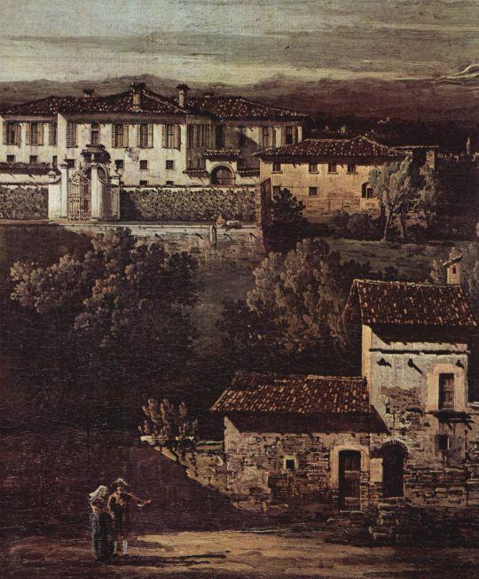 Деревня Гаццада, вид на виллу Мелци дЭрил с юго-востока. фрагмент (1744)