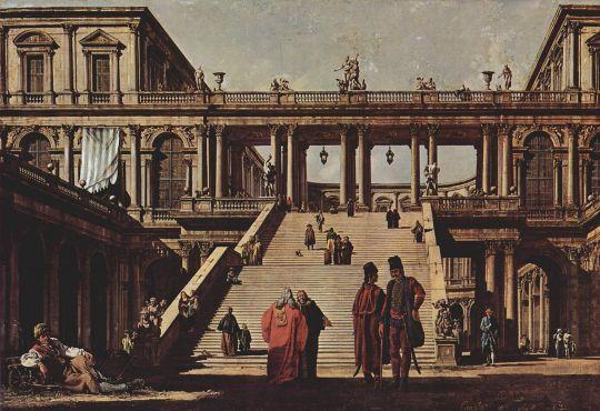 Каприччио, дворцовая лестница (1762)