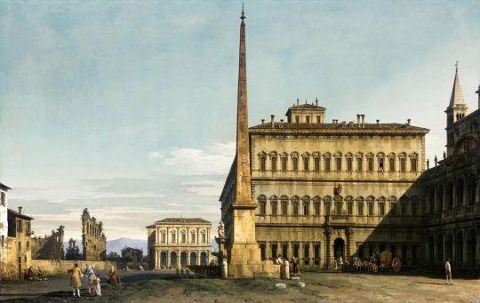 Рим, вид рыночной площади  Сан-Джованни (1743-1744)