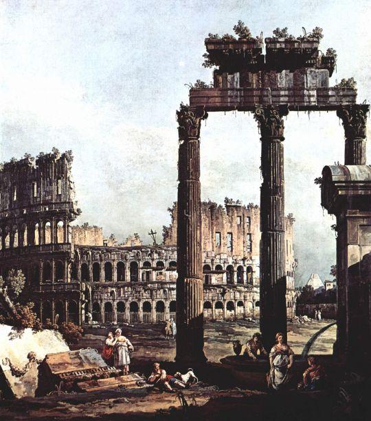 Римское каприччио, Колизей и руины храма Веспиана (1747)