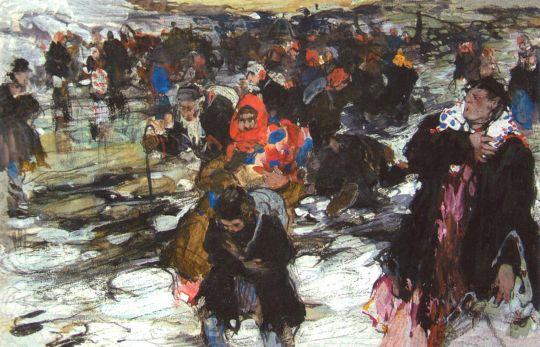 Беженцы. Эскиз (Сер. 1900-х)