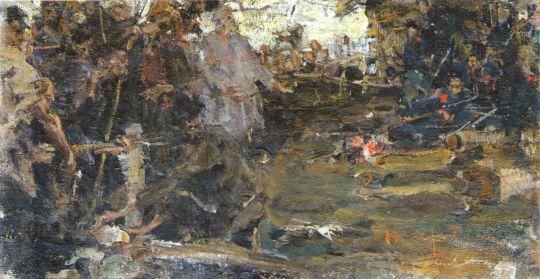 Восстание в тылу Колчака. Эскиз (1923)
