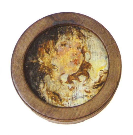 Головка девочки с распущенными волосами (1918—1922)