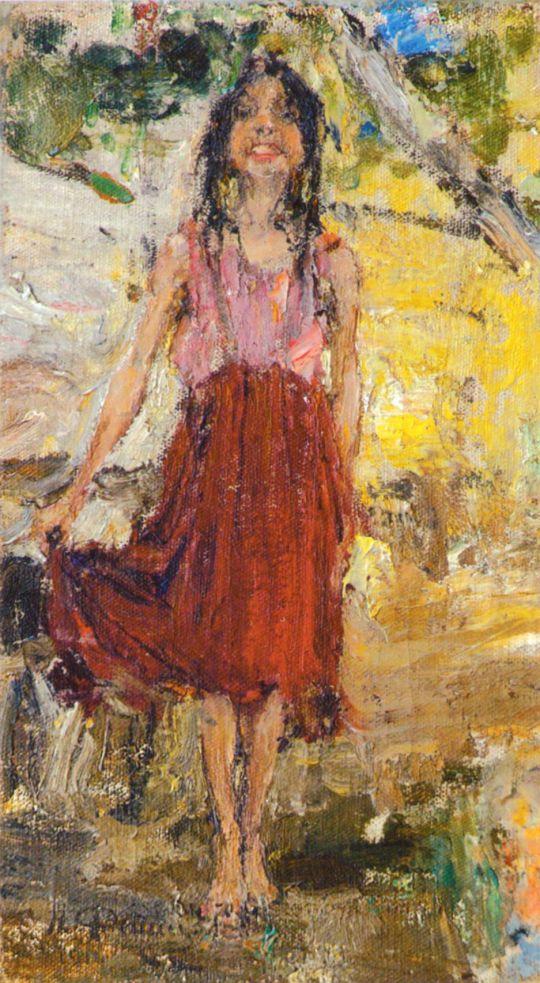 Дрожащая девочка. Этюд к картине Обливание (1914)