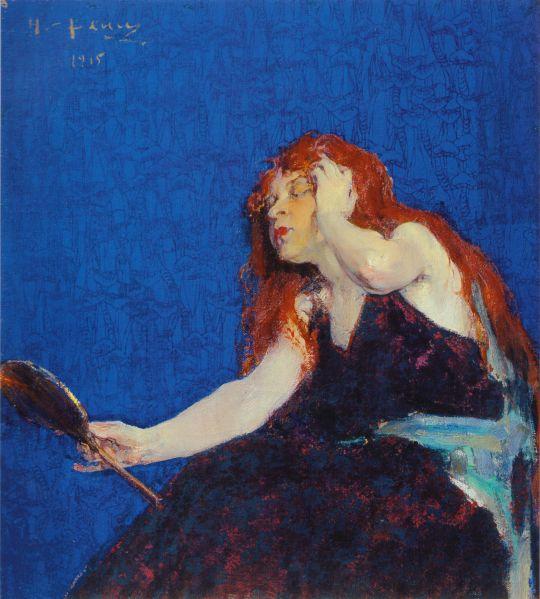 Женщина с зеркалом (1915)