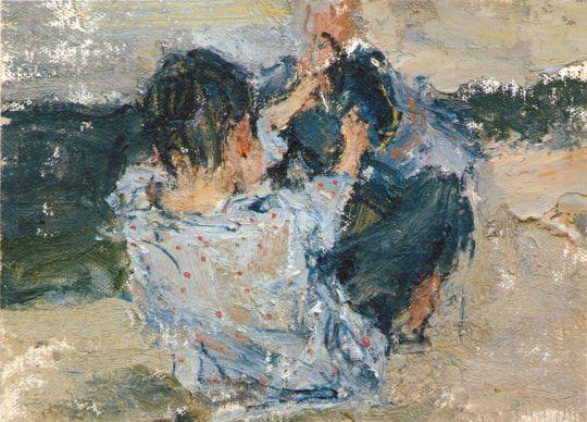 Мальчик со спины. Этюд к картине Обливание (1911—1914)