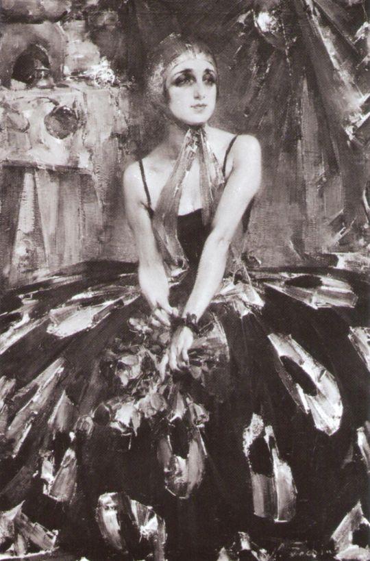 Портрет балерины В.П.Фокиной (1925)
