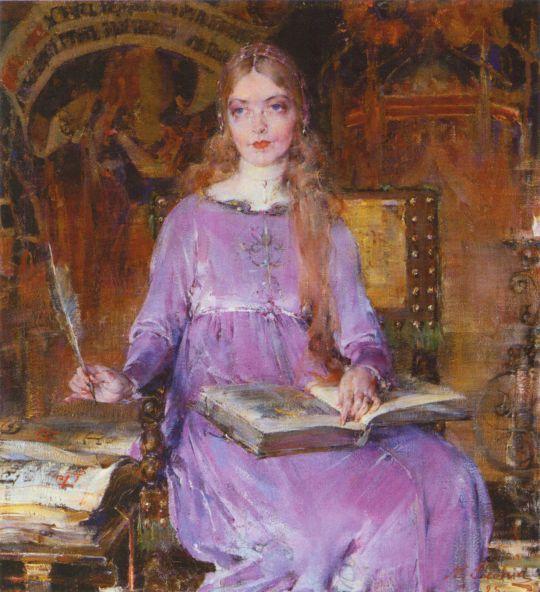 Портрет Лилиан Гиш в роли Ромолы (1925)