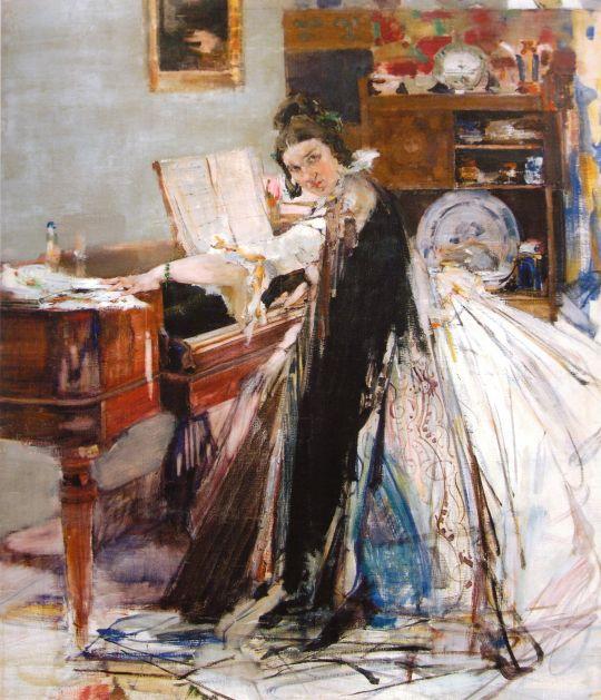 Портрет Н.М.Сапожниковой (у рояля) (1916)