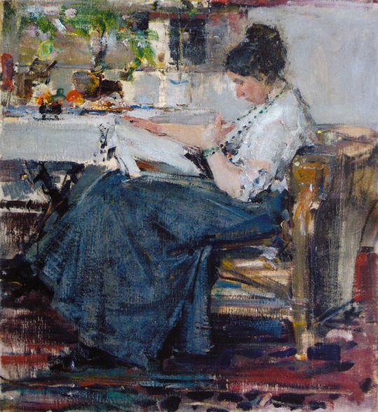 Портрет Н.М.Сапожниковой. Этюд (1915) 2
