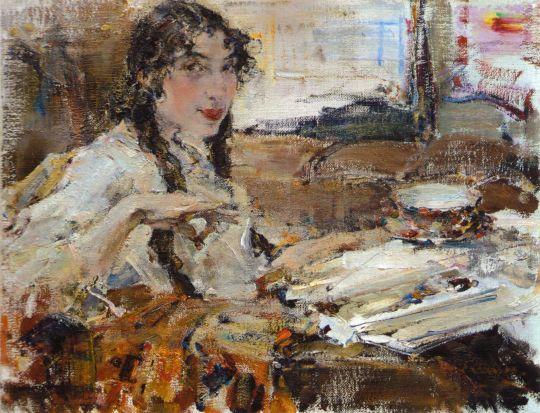 Портрет Т.А.Поповой (1917)