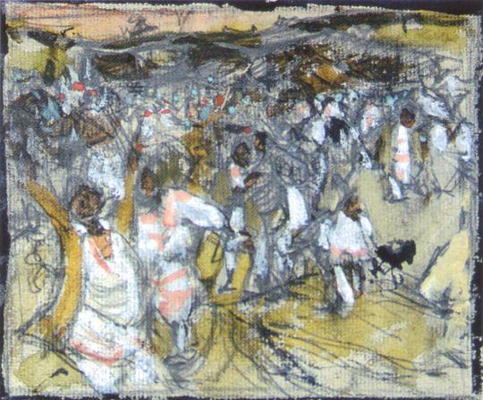 Черемисская свадьба. Эскиз (1908)