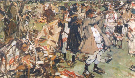 Черемисская свадьба. Эскиз (1908) 2