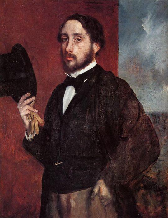 Автопортрет в приветствии (1865-1866) (92.5 х 66.5) (Лиссабон, Музей Галуста Гульбенкяна)