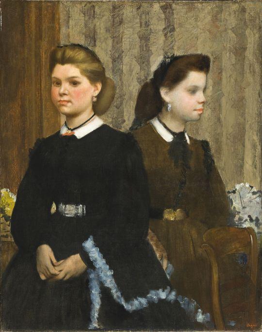 Сёстры Джованна и Джулиана Беллелли (1865-1866) (92.1 х 72.4) (Лос-Анжелес, LACAM)