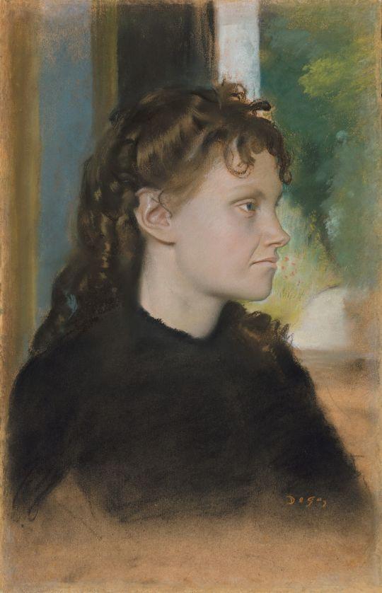 Мадам Теодора Гобийяр (урождённая Ив Моризо) (1869) (48 х 30) (Нью-Йорк, Метрополитен)