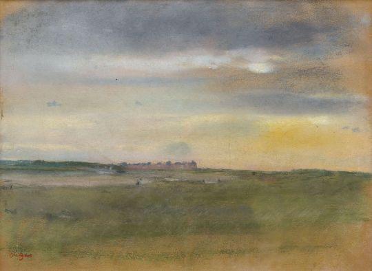 Пейзаж на закате (1869) (частная коллекция)