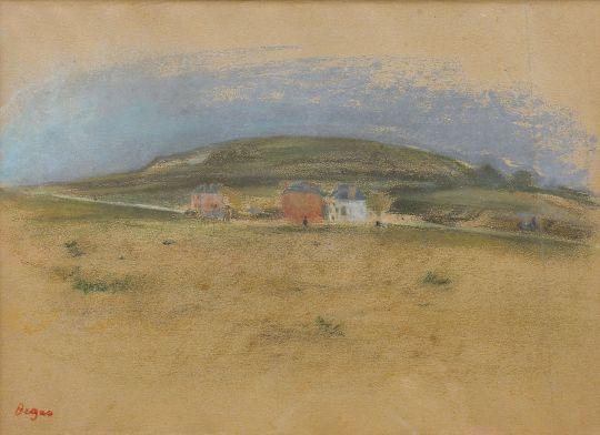 Дома вблизи скал (1869) (частная коллекция)