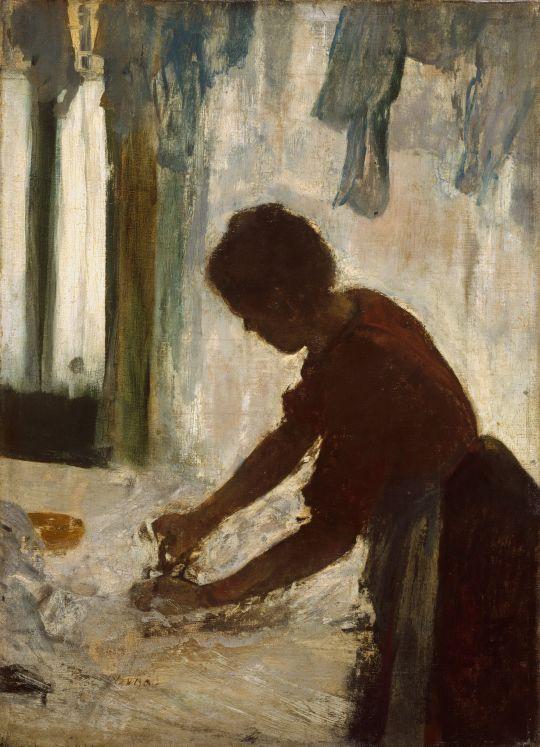 Гладильщица (1873) (54.3 х 39.4) (Нью-Йорк, музей Метрополитен)