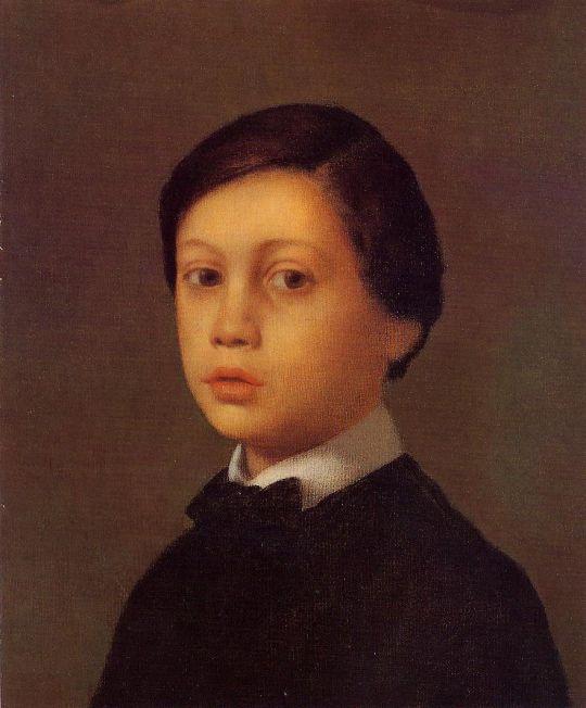 Портрет младшего брата художника Рене де Га (1855) (38.6 х 32.1) (Вашингтон, Нац. галерея)