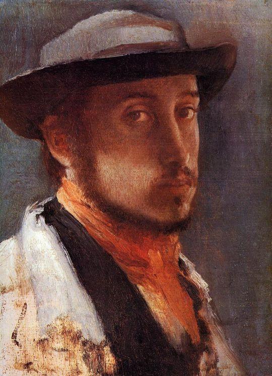 Автопортрет в мягкой шляпе (1857-1858) (США, Уильямстаун, Худ.институт Стерлинг и Френсин Кларк)
