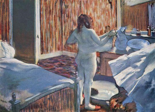 Женщина за своим туалетом (1876-1877) (Пасадена, Музей Нортона Саймона)
