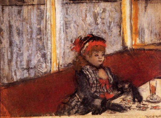 Женщина в кафе (ок.1877) (частная коллекция)